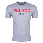 Poland Euro 2016 Men's Fashion T-Shirt (Grey)