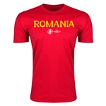 Romania Euro 2016 Men's Fashion T-Shirt (Red)