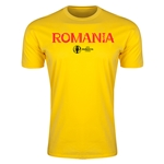 Romania Euro 2016 Men's Fashion T-Shirt (Yellow)