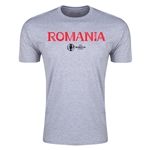 Romania Euro 2016 Men's Fashion T-Shirt (Grey)