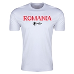 Romania Euro 2016 Men's Fashion T-Shirt (White)