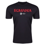 Romania Euro 2016 Men's Fashion T-Shirt (Black)