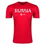 Russia Euro 2016 Men's Fashion T-Shirt (Red)