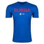 Russia Euro 2016 Men's Fashion T-Shirt (Royal)