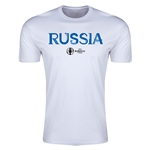 Russia Euro 2016 Men's Fashion T-Shirt (White)