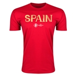 Spain Euro 2016 Men's Fashion T-Shirt (Red)