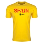Spain Euro 2016 Men's Fashion T-Shirt (Yellow)