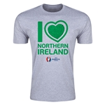 Northern Ireland Euro 2016 Men's Heart T-Shirt (Grey)