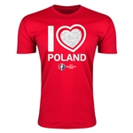 Poland Euro 2016 Men's Heart T-Shirt (Red)