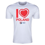 Poland Euro 2016 Men's Heart T-Shirt (White)