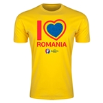 Romania Euro 2016 Men's Heart T-Shirt (Yellow)