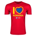 Romania Euro 2016 Men's Heart T-Shirt (Red)
