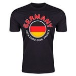 Germany Euro 2016 Men's Fashion T-Shirt (Black)