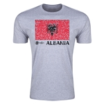 Albania Euro 2016 Men's Fashion T-Shirt (Grey)