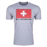 Switzerland Euro 2016 Men's Fashion T-Shirt (Grey)