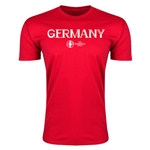 Germany Euro 2016 Men's Fashion T-Shirt (Red)