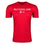 Switzerland Euro 2016 Men's Fashion T-Shirt (Red)