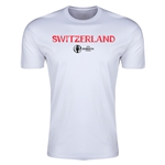 Switzerland Euro 2016 Men's Fashion T-Shirt (White)