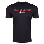 Switzerland Euro 2016 Men's Fashion T-Shirt (Black)