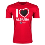 Albania Euro 2016 Men's Heart T-Shirt (Red)