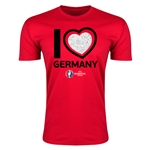 Germany Euro 2016 Men's Heart T-Shirt (Red)