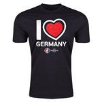 Germany Euro 2016 Men's Heart T-Shirt (Black)