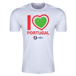 Portugal Euro 2016 Men's Heart T-Shirt (White)