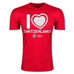 Switzerland Euro 2016 Men's Heart T-Shirt (Red)