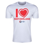 Switzerland Euro 2016 Men's Heart T-Shirt (White)