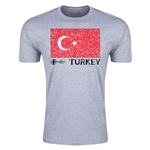 Turkey Euro 2016 Men's Fashion T-Shirt (Grey)
