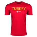 Turkey Euro 2016 Men's Fashion T-Shirt (Red)
