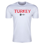 Turkey Euro 2016 Men's Fashion T-Shirt (White)