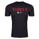 Turkey Euro 2016 Men's Fashion T-Shirt (Black)
