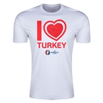 Turkey Euro 2016 Men's Heart T-Shirt (White)