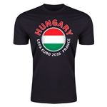 Hungary Euro 2016 Men's Fashion T-Shirt (Black)