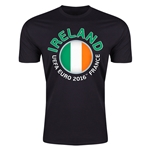 Ireland Euro 2016 Men's Fashion T-Shirt (Black)