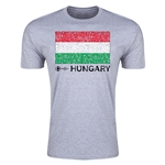 Hungary Euro 2016 Men's Fashion T-Shirt (Grey)