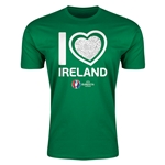 Ireland Euro 2016 Men's Heart T-Shirt (Green)