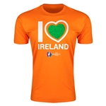 Ireland Euro 2016 Men's Heart T-Shirt (Orange)