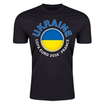 Ukraine Euro 2016 Men's Fashion T-Shirt (Black)