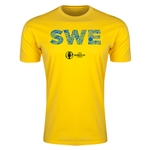 Sweden Euro 2016 Men's Elements T-Shirt (Yellow)