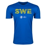 Sweden Euro 2016 Men's Elements T-Shirt (Royal)