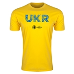 Ukraine Euro 2016 Men's Elements T-Shirt (Yellow)