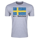 Sweden Euro 2016 Men's Fashion T-Shirt (Grey)