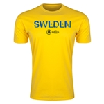 Sweden Euro 2016 Men's Fashion T-Shirt (Yellow)