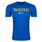 Sweden Euro 2016 Men's Fashion T-Shirt (Royal)