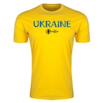 Ukraine Euro 2016 Men's Fashion T-Shirt (Yellow)