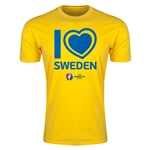 Sweden Euro 2016 Men's Heart T-Shirt (Yellow)