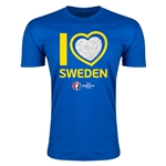 Sweden Euro 2016 Men's Heart T-Shirt (Royal)