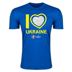 Ukraine Euro 2016 Men's Heart T-Shirt (Royal)